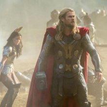 Thor: The Dark World, Chris Hemsworth nel campo di battaglia