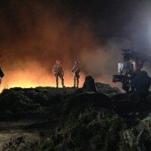 Godzilla: cala la notte sul set