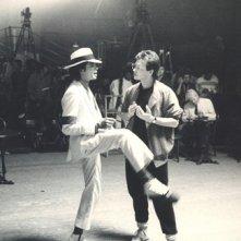 Michael Jackson con il coreografo Vince Paterson
