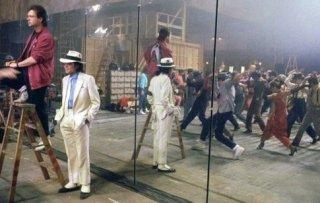 Michael Jackson con il coreografo Vince Paterson in sala prove