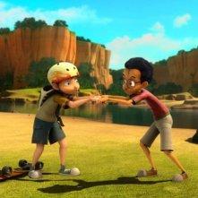 Dino e la macchina del tempo: Dino e Max in una scena del film