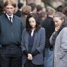 Doppio Gioco: Andrea Riseborough in una scena del film con Domhnall Gleeson e Brid Brennan
