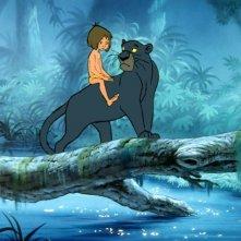 Il libro della giungla: Mowgli a cavallo della pantera Bagheera