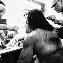 Hercules - Il Guerriero: Dwayne Johnson in sala trucco