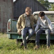 L'uomo d'acciaio: Kevin Costner e Dylan Sprayberry in una scena del film