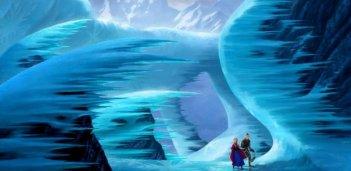 Frozen: Anna e Kristoff alla ricerca di Elsa in una scena