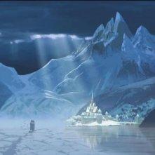 Frozen: il regno sotto l'incantesimo di ghiaccio in una scena del film