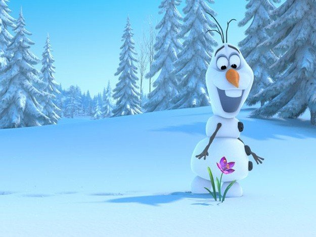 Frozen: un tenero pupazzo di neve