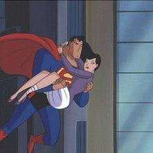 Le avventure di Superman: il protagonista e Lois Lane in una scena della serie