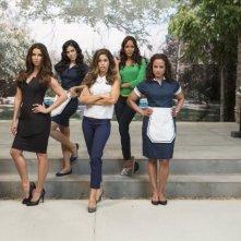 Devious Maids: Ana Ortiz, Judy Reyes, Roselyn Sanchez, Dania Ramirez ed Edy Ganem in una foto promozionale della serie