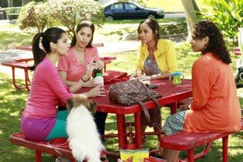 Devious Maids: Ana Ortiz, Judy Reyes, Roselyn Sanchez e Dania Ramirez in una scena della serie