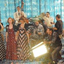 Le Ragazze dello Swing (Fabio Olmi sul set con le protagoniste)