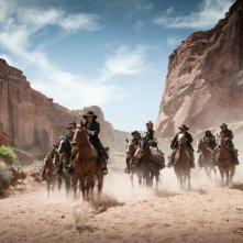 The Lone Ranger: una scena polverosa tratta dal film