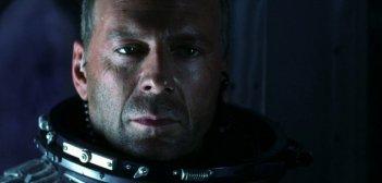 Bruce Willis in una sequenza di Armageddon (1998)