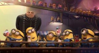 Cattivissimo me 2: Gru e i minions in una delle sequenze del film