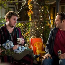 Delivery Man: Vince Vaughn e Chris Pratt discutono nel corso di una serata
