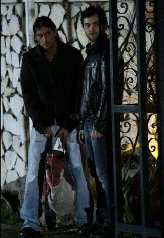 Claudio Del Falco nel film Rabbia in pugno insieme a Cristiano Morroni