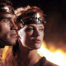 Arnold Schwarzenegger e Brigitte Nielsen in Yado, del 1985