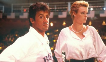Sylvester Stallone con Brigitte Nielsen in Rocky IV