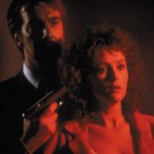 Trappola di cristallo: Alan Rickman e Bonnie Bedelia in una scena