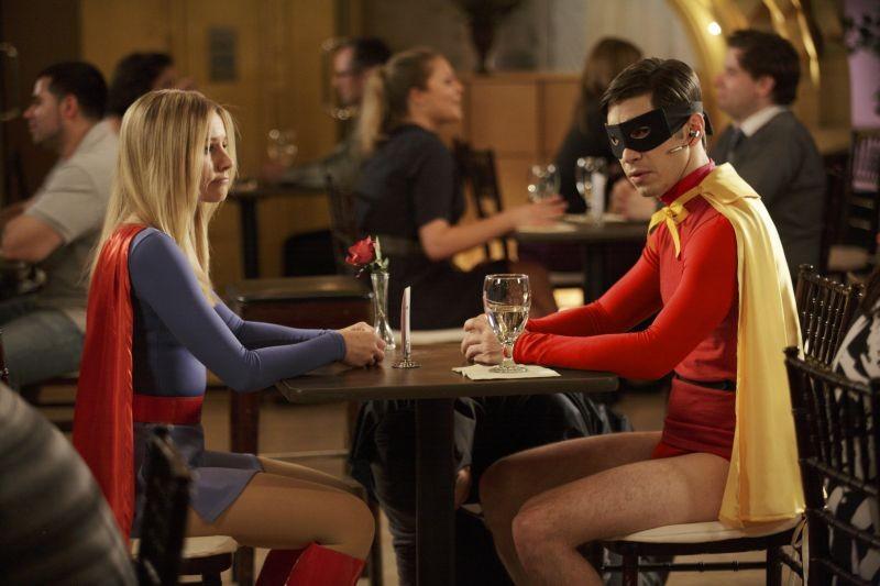 Comic Movie Kristen Bell E Justin Long Supereroi A Cena In Un Momento Del Film 280653