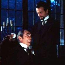 Lo spettro: Elio Jotta con Peter Baldwin in una sequenza del film