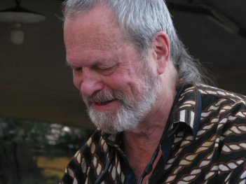 Un primo piano di Terry Gilliam, a Firenze per ritirare il premio Fiesole 2013