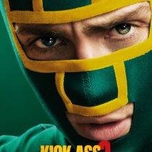 Kick-Ass 2: character poster italiano di Aaron Johnson nei panni di Kick-Ass