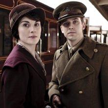Downton Abbey: Dan Stevens e Michelle Dockery nella premiere della stagione 2