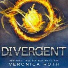 La copertina del romanzo Divergent di Veronica Roth