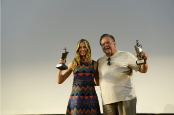 Paul e Mira Sorvino con il Giffoni Experience Award 2013
