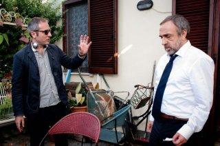 La variabile umana: Silvio Orlando con il regista Bruno Oliviero sul set del film