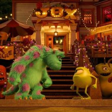 Monsters University: Mike e Sulley in una scena