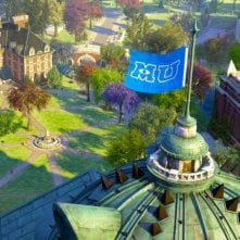 Monsters University: un'immagine dall'alto dell'istituto universitario per mostri