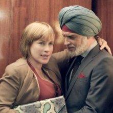Vijay and I: Moritz Bleibtreu e Patricia Arquette in una scena del film