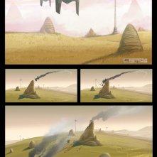 Star Wars Rebels: uno dei primi concept art della nuova serie dell'artista Ralph McQuarrie
