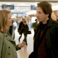 Gare du nord: Nicole Garcia in una scena insieme a Reda Kateb