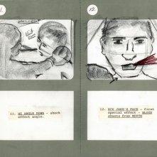 Un'immagine dallo storyboard di Toro scatenato
