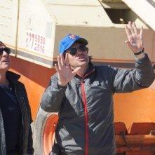 All Is Lost: il regista del film  J.C. Chandor insieme a Robert Redford sul set