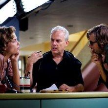Anni felici: Kim Rossi Stuart con Daniele Luchetti e Micaela Ramazzotti sul set