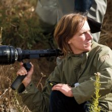 Night Moves: la regista Kelly Reichardt sul set