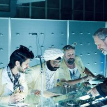 The Zero Theorem: il regista Terry Gilliam sul set del film con Ben Whishaw, Peter Stormare e Sanjeev Bhaskar