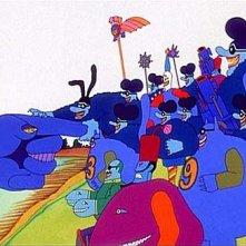 Una scena del film Yellow Submarine