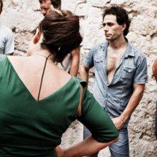 Via Castellana Bandiera: la regista Emma Dante (di spalle) sul set