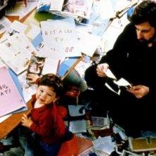 Nanni Moretti e il piccolo Pietro in una scena di Aprile