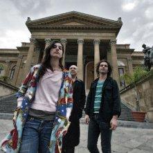 Summer '82 when Zappa came to Sicily: Diva e Dweezil Zappa insieme al biografo Massimo Bossoli in una scena
