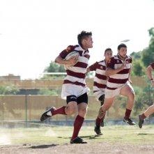 Il terzo tempo: Lorenzo Richelmy in una scena durante una partita di rugby