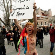 Ukraine is not a Brothel: un'immagine del documentario che mostra le proteste delle Femen