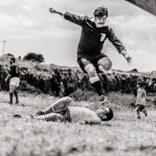 L'arbitro: Francesco Pannofino in azione nei panni di Mureno