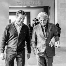 L'arbitro: Stefano Accorsi in un'immagine del film con Grégoire Oestermann
